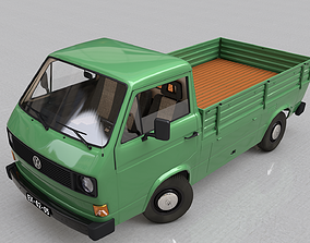 VOLKSWAGEN TRANSPORTER T3 PICKUP - 1979 3D model