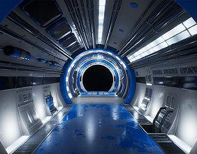 Scifi 3D Interior Corridor Lowpoly realtime