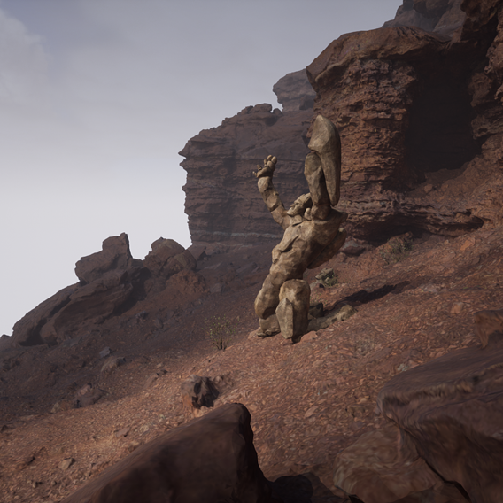 Unreal Engine 5! Tests with my new character.