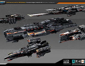 3D model Spaceships Vol-05