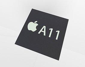 3D model Apple CPU A11