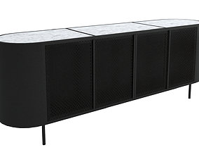 TV Stand-005 Burke Libby Media Console 3D