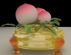 3D model Chinese peach architectural