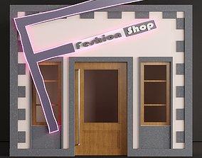 3D asset Children playhouse Fashion shop for kids