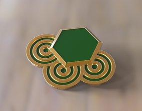 3D printable model Brooch sexangel and circles