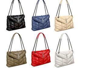 YSL Saint Laurent Loulou Puffer Bag 3D model
