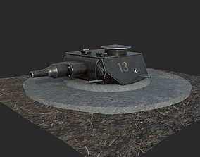 3D model Panzerstellung Turret