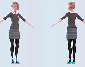Gwen Stacy - Into the Spider-Verse School Uniform 3D model