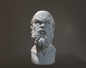 3D print model Bust of Socrates