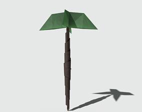 Origami Palm 3D asset