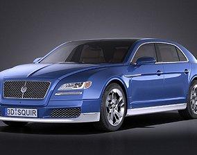 3D model Generic Luxury Saloon 2016 VRAY expensive