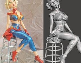 3D print model Bombshell Pinups 05 Captain Marvel by