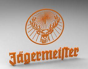 Jagermeister Keyring 3D printable model