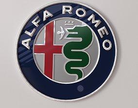 3D model Alfa Romeo Emblem