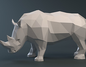 sculpture 3D print model Rhinoceros