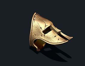 3D print model Spartan helmet ring
