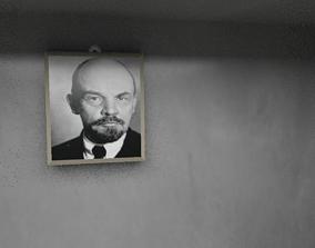 3D model vladimir Lenin wall frame