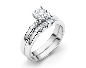 3D print model Diamond ring set