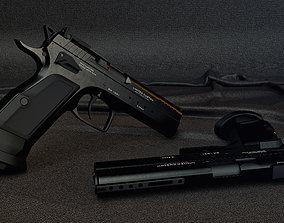pistol Tanfoglio Custom 3D model files PBR