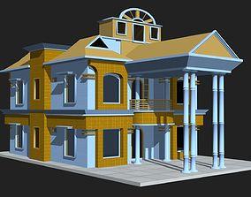 low-poly 3d House Building