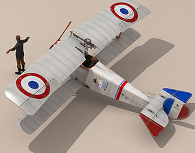 Nieuport 17 Lafayette Escadrille 2 3D