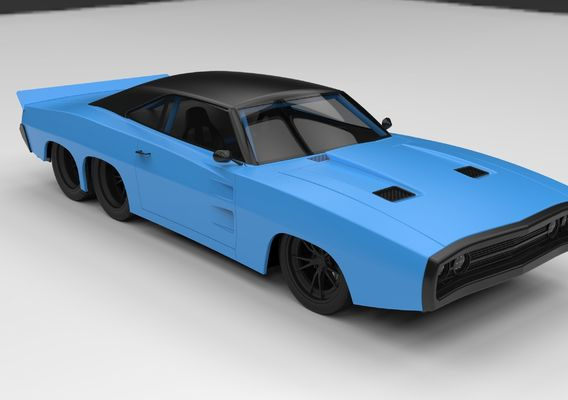 Dodge Charger six-wheeled concept