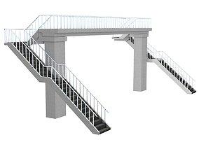 architectural 3D model Footbridge