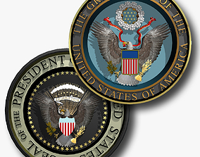 Seal of the US and The President of the US 3D model