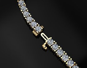3D printable model Diamond Tennis Necklace