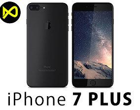 3D Apple iPhone 7 Plus Matte Black