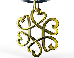 fashion 3D print model Hearts Star Pendant
