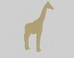 Rigged Giraffe 3D model