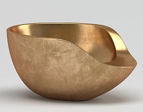 Aluminium Handmade Bowl 3D model