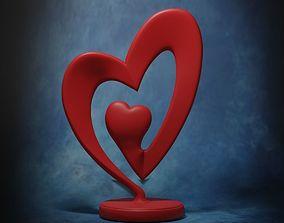 Heart Sculpture - stl 3D printable model