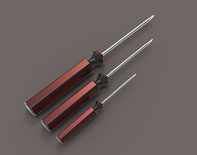Slotted Screw Driver 3D