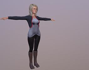 3D asset Woman cloth