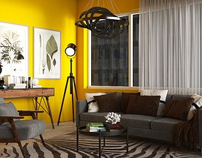 Modern Interior Living Room realistic 3D