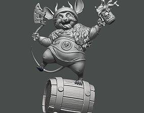 art Mouse Viking 3D print model