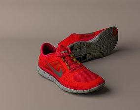 3D model Worn Nike Free Run 3 sneaker