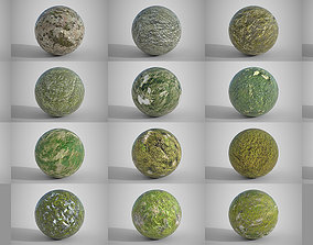 3D 18 Seamless Mossy Surfaces PBR Volume 1