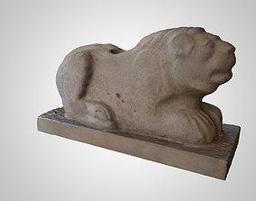3D model ASSYRIAN STATUE OF A LION GUARDING SANDSTONE