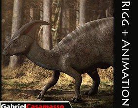 3D model Parasaurolophus - Rigged