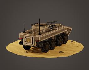 3D model stylized soldier carrier