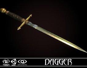 3D asset Medieval Dagger - game ready model