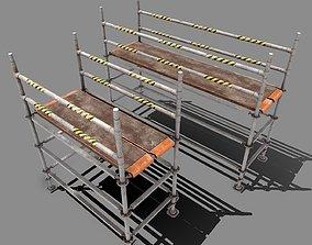 3D asset Metal Scaffolding - 2 parts