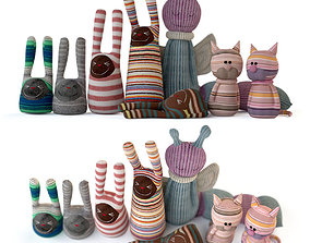 3D Textile toys out of socks