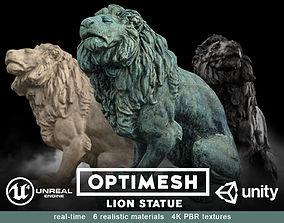 Lion Statue - 3D PBR model VR / AR ready