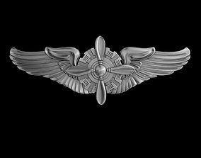USAAF Flight Engineer Wings Badge 3D