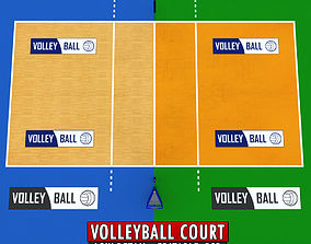 3D model Volleyball court low detail low poly