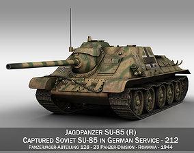 Jagdpanzer SU-85R - 212 - 23 Panzer Division 3D model